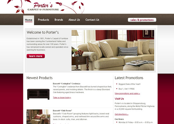 porters-carpet 30+ Business Web design Inspiration
