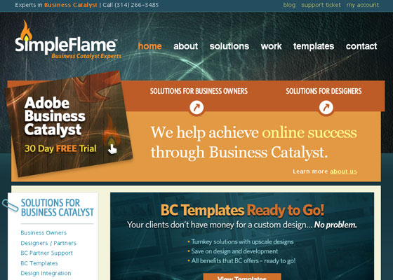 simpleflame 30+ Business Web design Inspiration