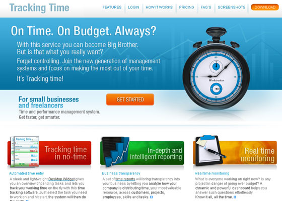 tracking-time 30+ Business Web design Inspiration