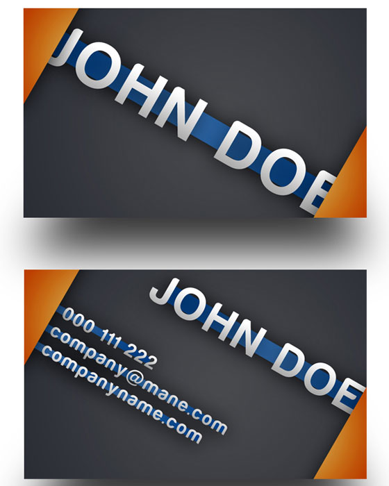 business-card-template25 30+ PSD Business Card Templates