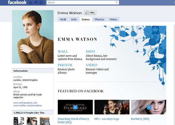Facebook Fan Pages Inspiration