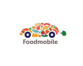 Foodmobile 20+ Fresh & Creative Logo Designs Inspiration
