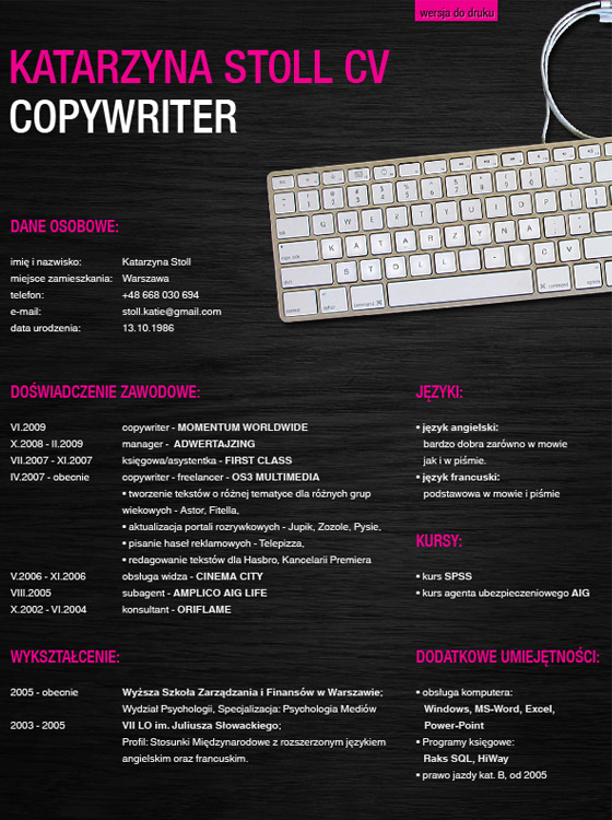 CV Resume Design Inspiration  Resume Design Inspiration