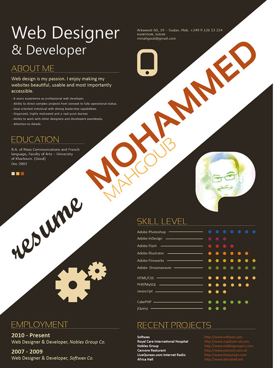 CV Resume Design Inspiration