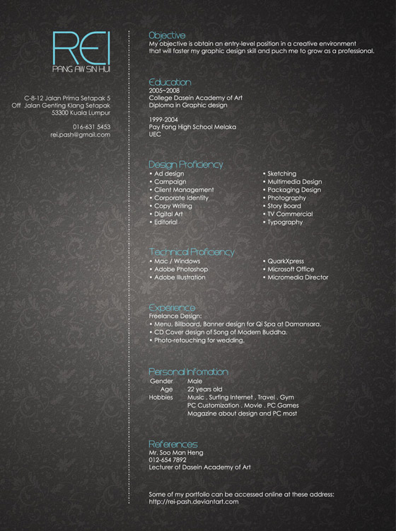 Pang-Awsnhu 30+ CV/Resume Design Inspiration