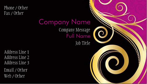 Awesome Sample Of Name Card Contemporary - Best Resume Examples