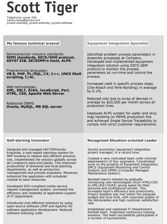 Scott-Tiger 30+ CV/Resume Design Inspiration