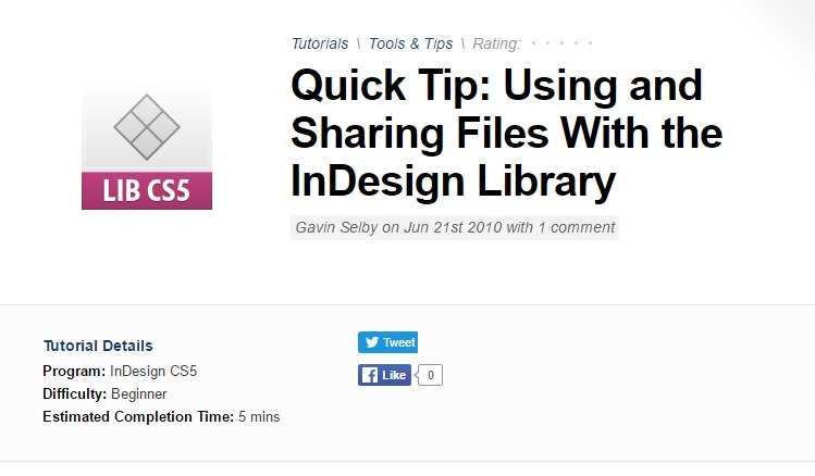 Indesign Tutorials