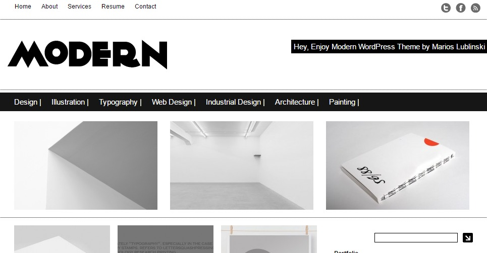 Minimalistic WordPress theme