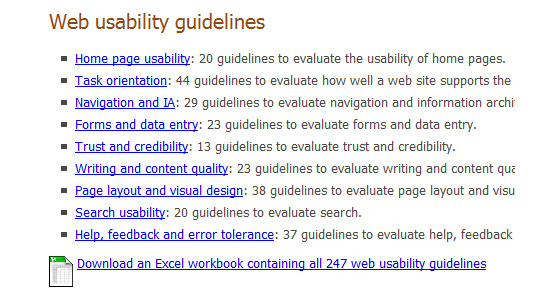 Web-usability-guidelines Useful Tools for web developers