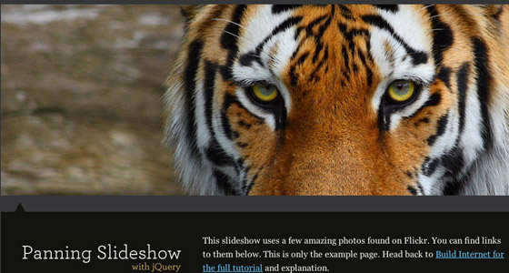 Animate-Panning-Slideshow 30+ Best JQuery Tutorials
