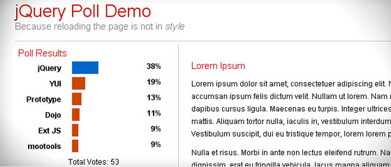 Creating-Dynamic-Poll 30+ Best JQuery Tutorials
