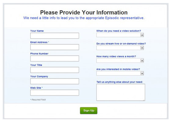 Best Sign Up Forms Examples