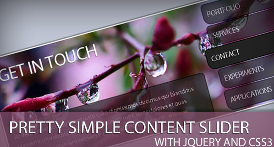 Simple-Content-Slider 30+ Best JQuery Tutorials