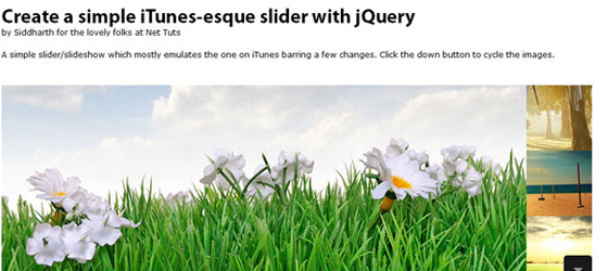 Simple-iTunes-like-Slider 30+ Best JQuery Tutorials