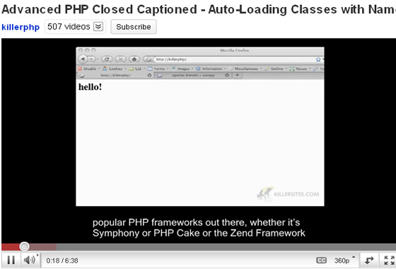 Closed-Captioned 35+ Best PHP Video Tutorials
