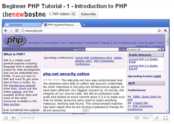 Introduction-to-PHP 35+ Best PHP Video Tutorials