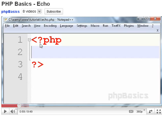 PHP-Echo 35+ Best PHP Video Tutorials