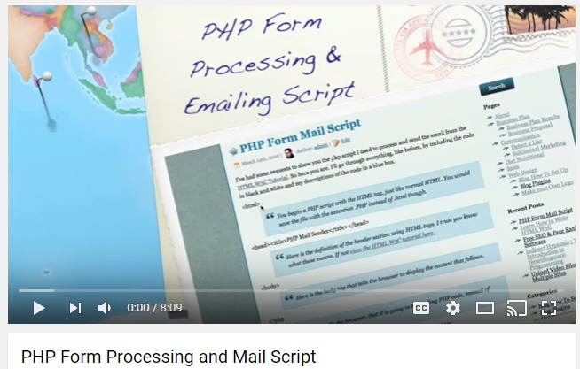 PHP-Form-Processing 35+ Best PHP Video Tutorials