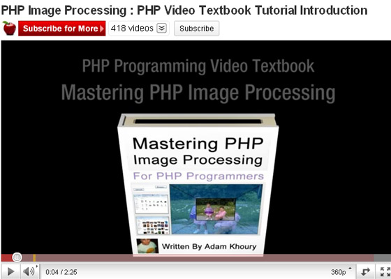 PHP-Image-Processing 35+ Best PHP Video Tutorials