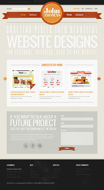 Ribbons in a Web Design