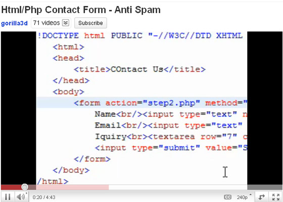 Php-Contact-Form 35+ Best PHP Video Tutorials