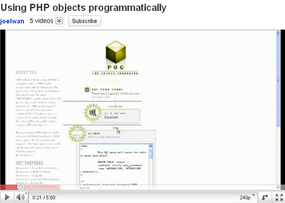 objects-programmatically 35+ Best PHP Video Tutorials