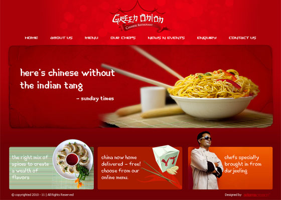 Restaurant website design inspirations web mantra