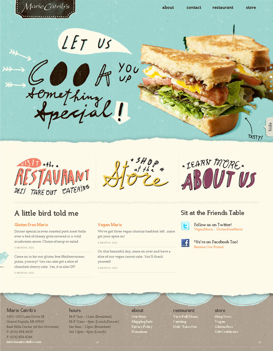 Restaurant website design inspirations