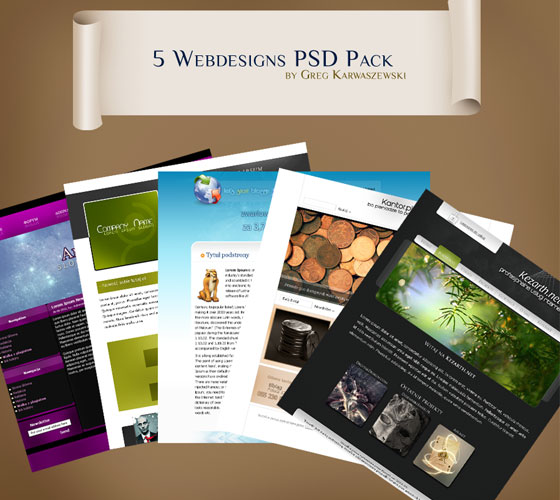 5-Webdesigns-PSD-Pack 30+ Free PSD Templates