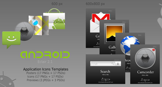 Android-Icon-Templates 30+ Free PSD Templates