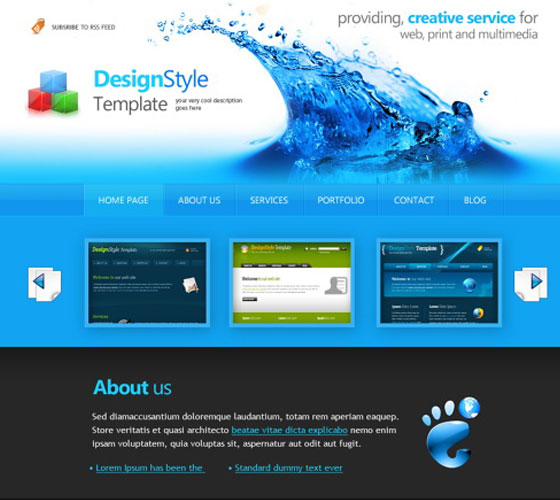 Blue-web-templates 30+ Free PSD Templates