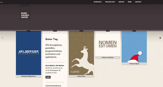 Examples of Sliders In Web Design