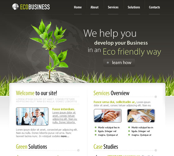 Business-PSD-Template 30+ Free PSD Templates