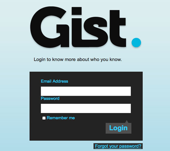 Gist 40+ Login Page Design Inspirations