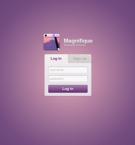 Magnifique-Web-Login 40+ Login Page Design Inspirations
