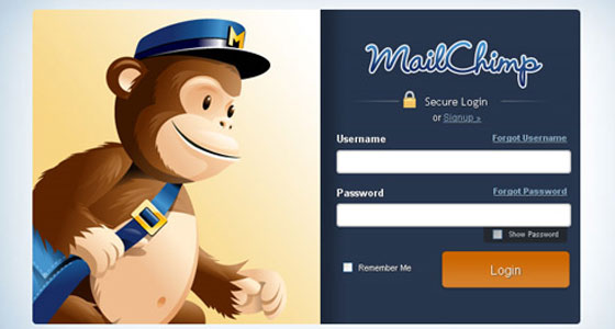 Mail-Chimp 40+ Login Page Design Inspirations