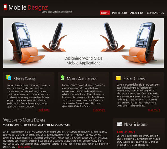 Mobile-Design-PSD-Template 30+ Free PSD Templates