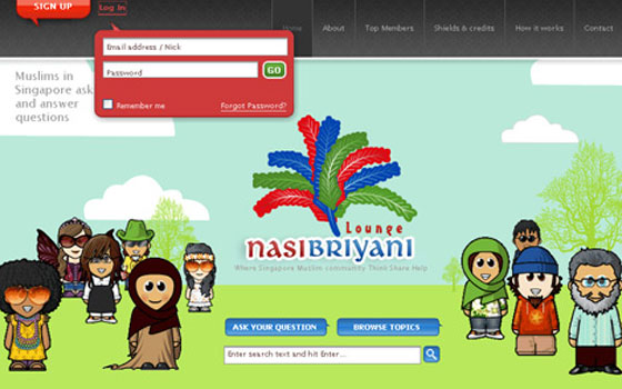 Nasibriyani-Lounge 40+ Login Page Design Inspirations