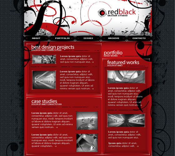 Red-psd-template 30+ Free PSD Templates
