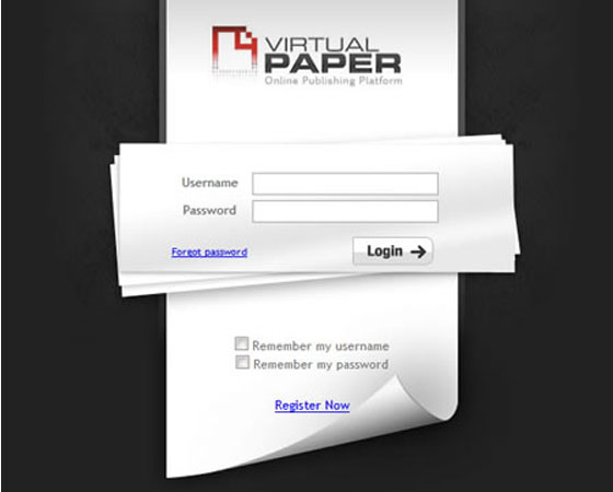 Virtual-Paper 40+ Login Page Design Inspirations