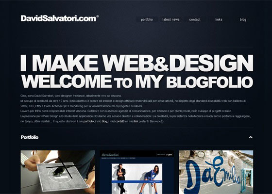 Fresh single page website design