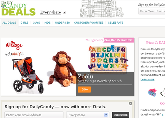 Showcase of Daily Deals websites