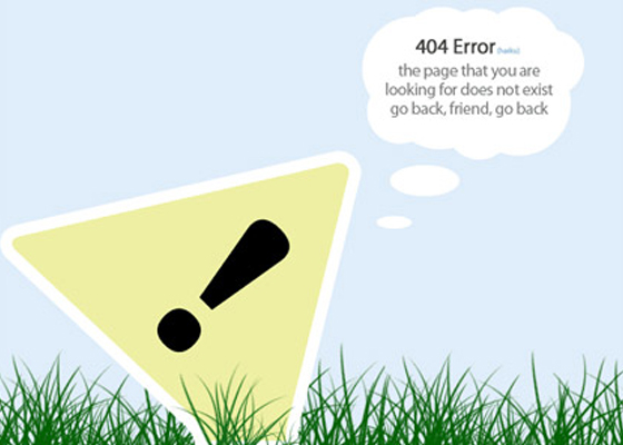 Superb 404 Not Found Error Page Designs