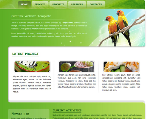 Free Psd Website templates