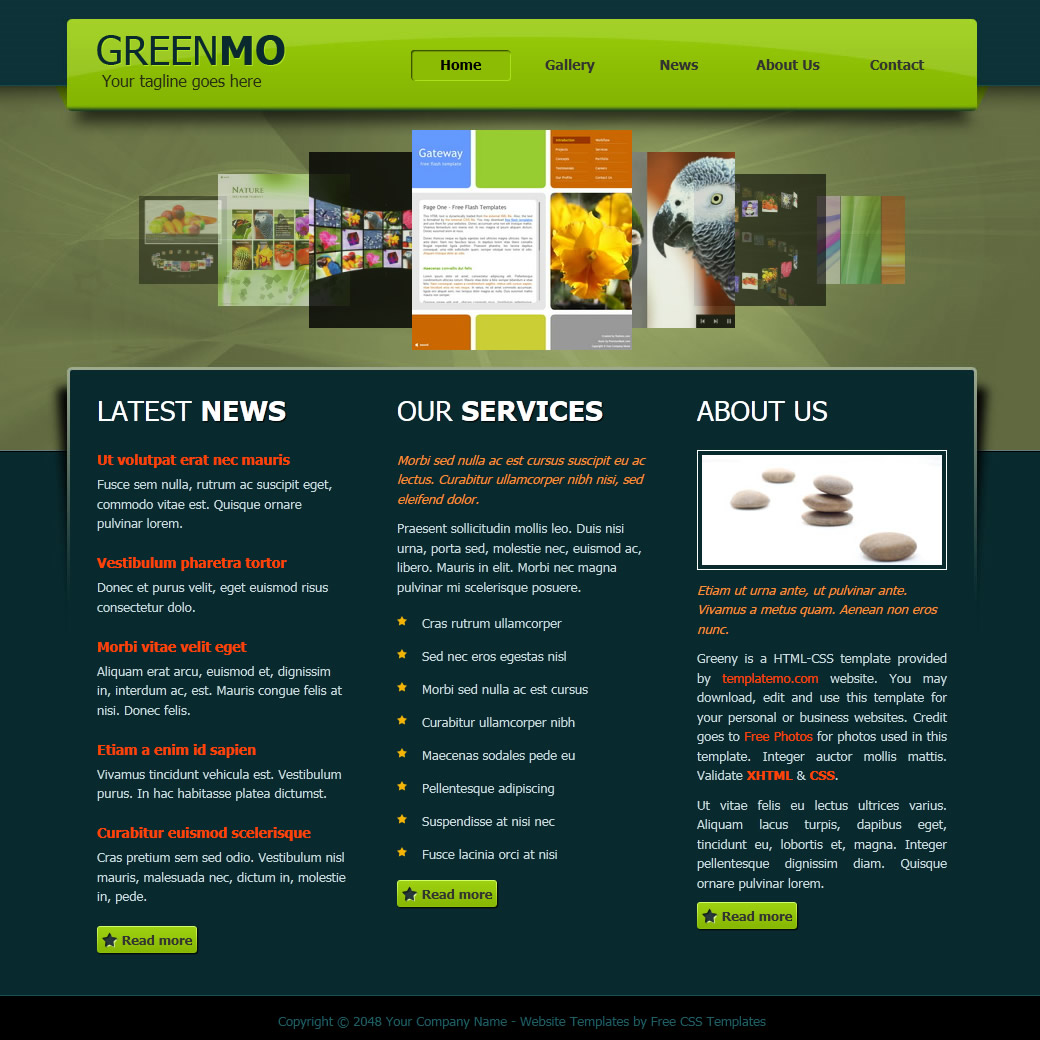 20 free green css templates web3mantra 9 css template 9 free psd website templates pronofoot35fo Images