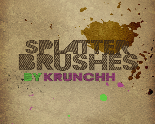 Great Paint Splatter Brushes for Photoshop