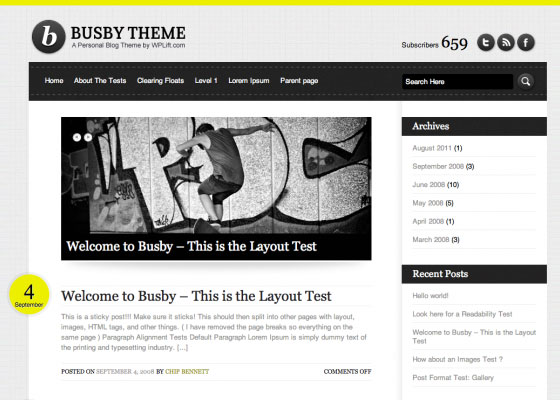 Busby 60 Free And Premium Quality WordPress Themes