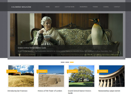 Calomino-Magazine 60 Free And Premium Quality WordPress Themes