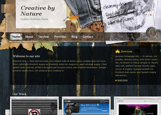 Creative-by-Nature 60 Free And Premium Quality WordPress Themes